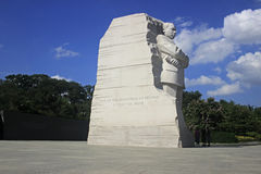 Martin Luther King Monument in Washington DC July 2015 Royalty Free Stock Photo
