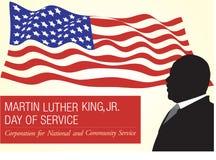Martin Luther King, monumento del Jr día ilustración del vector