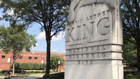 Martin Luther King, monumento del Jr Sitio histórico nacional Imágenes de archivo libres de regalías