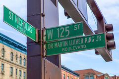 Martin Luther King. Ney York Martin Luther King Boulevard Stock Photography