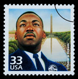 Martin Luther King Postage Stamp Royalty-vrije Stock Afbeelding