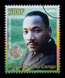 Martin Luther King Postage Stamp foto de archivo