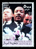 Martin Luther King Postage Stamp Stock Afbeelding