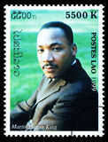 Martin Luther King Postage Stamp Stock Foto's