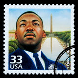 Martin Luther King Postage Stamp. UNITED STATES AMERICA - CIRCA 1985: A postage stamp printed in USA showing Martin Luther King, circa 1985 Stock Photography