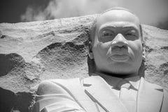 Martin Luther King statue. Martin Luther King statue at his memorial in Washington. America. Black and white photo stock photo