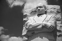 Martin Luther King statue. Martin Luther King statue at his memorial in Washington. America. Black and white photo royalty free stock image