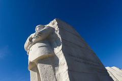 Martin Luther King Statue. WASHINGTON, DC - FEBRUARY 17: Memorial to Dr. Martin Luther King on February 17, 2013. The memorial is America's 395th national park stock photography