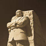 Martin Luther King staty arkivfoton