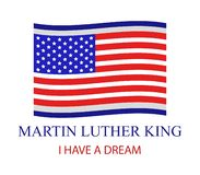 Martin luther king. On white background stock illustration