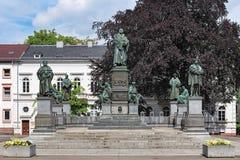 Martin Luther Monument in den Würmern, Deutschland Lizenzfreies Stockfoto