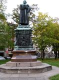 Martin Luther. Luther monument on the Karlsplatz in Eisenach,  germany 18.10.2004 Stock Photography