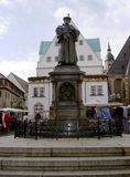 Martin Luther. Luther Monument on the square in Eisleben, Germany 13.10.2009 Royalty Free Stock Images