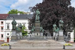 Martin Luther Monument in Wormen, Duitsland Royalty-vrije Stock Foto