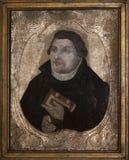 Martin Luther Pintura antigua a partir de 1650-1675 Foto de archivo libre de regalías