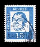 Martin Luther (1483-1546), reformista, distinto serie dos alemães, cerca de 1961 fotos de stock royalty free