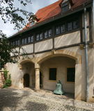 Martin Luther's Birth Place. In this house in the East German town of Eisleben reformer Martin Luther was born on November 10, 1483 Royalty Free Stock Photography