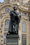 Martin Luther-standbeeld in Dresden Royalty-vrije Stock Foto