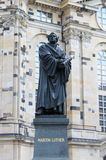 Martin Luther statue. In front of the Frauenkirche, Dresden royalty free stock photography