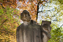 Martin Luther statue. Lutherstift, Frankfurt (Oder), Germany stock photography