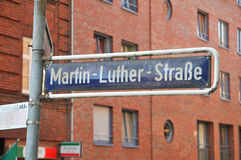 Martin Luther street. In Hamburg Stock Photography