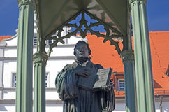 Martin Luther Wittenberg. Statue of Martin Luther in Wittenberg, germany Stock Image