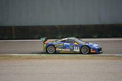 Martin Nelson Ferrari 458 utmaning Evo på Monza Royaltyfria Foton