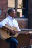 Martin O'Malley plays guitar, Des Moines, Iowa, September 26, 2015 Royalty Free Stock Image