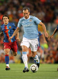Martin Petrov. Manchester City international Bulgarian Martin Petrov during the match Trophy Joan Gamper between FC Barcelona and Manchester City at Nou Camp Royalty Free Stock Images