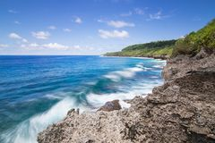 Christmas Island, Martin Point Sea Cliff Coastline Stock Photography