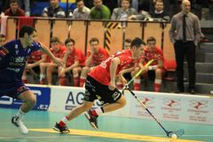 Martin Richter - floorball Royalty Free Stock Image