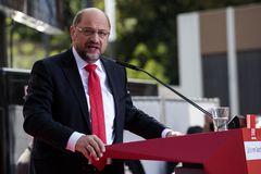 Martin Schulz, German Politician. Gelsenkirchen, Germany. 20 September 2017. Martin Schulz, leader of the SPD Social Democratic Party giving a speech during the stock images