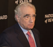 Martin Scorsese Appears en la película de NBR concede gala Imágenes de archivo libres de regalías