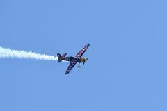 Martin Sonka der Tschechischen Republik führt während Red Bull-Wettfliegen durch Stockfoto