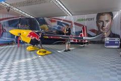 Martin Sonka Edge 540 V3 airplane during Red Bull Air Race Stock Image