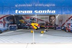 Martin Sonka krawędzi 540 V3 samolot podczas Red Bull powietrza rasy Zdjęcia Royalty Free