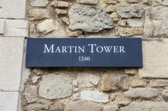 Martin Tower at the Tower of London Royalty Free Stock Photos