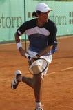 Martin Vassallo Arguello che funziona sulla corte di tennis Fotografie Stock Libere da Diritti
