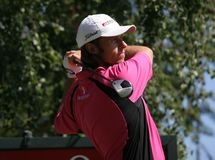 Martin Wiegele in Crans-montana golf Masters Stock Photo