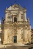 Martina Franca, Apulia. The facade of St. Martin`s Basilica at the Piazza Plebiscito, Taranto province, Apulia in South stock image