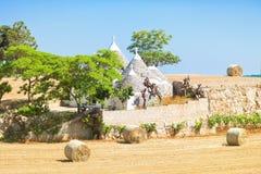 Martina Franca, Apulien - traditionelles apulian Trulli-Bauernhaus herein stockfoto
