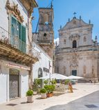 Summer morning in Martina Franca, province of Taranto, Apulia, southern Italy. Royalty Free Stock Image