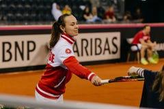 Martina Hingis-Training bei Fed Cup Rumänien 2018 lizenzfreies stockbild