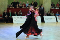Martina Minasi and Marco Camarlinghi - ballroom dancing Stock Photo