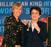 Martina Navratilova and Billie Jean King Royalty Free Stock Photography