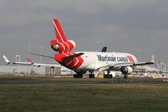 Martinair-Lading stock foto