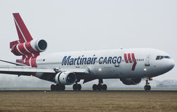 Martinair MD-11 plane after landing Royalty Free Stock Images