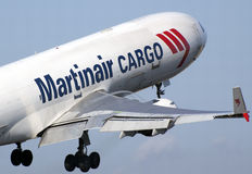 Martinair MD-11 takeoff Royalty Free Stock Image