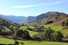Martindale from Hallin Fell, English Lake District Royalty Free Stock Photos