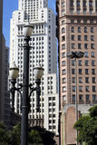 Martinelli Building and Altino Arantes Building (Banespa Buildin Royalty Free Stock Photo